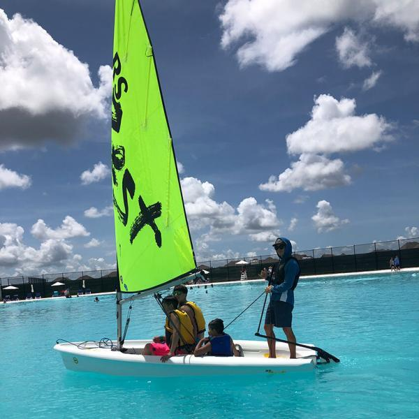 Sailboat with professional captain and 3 people